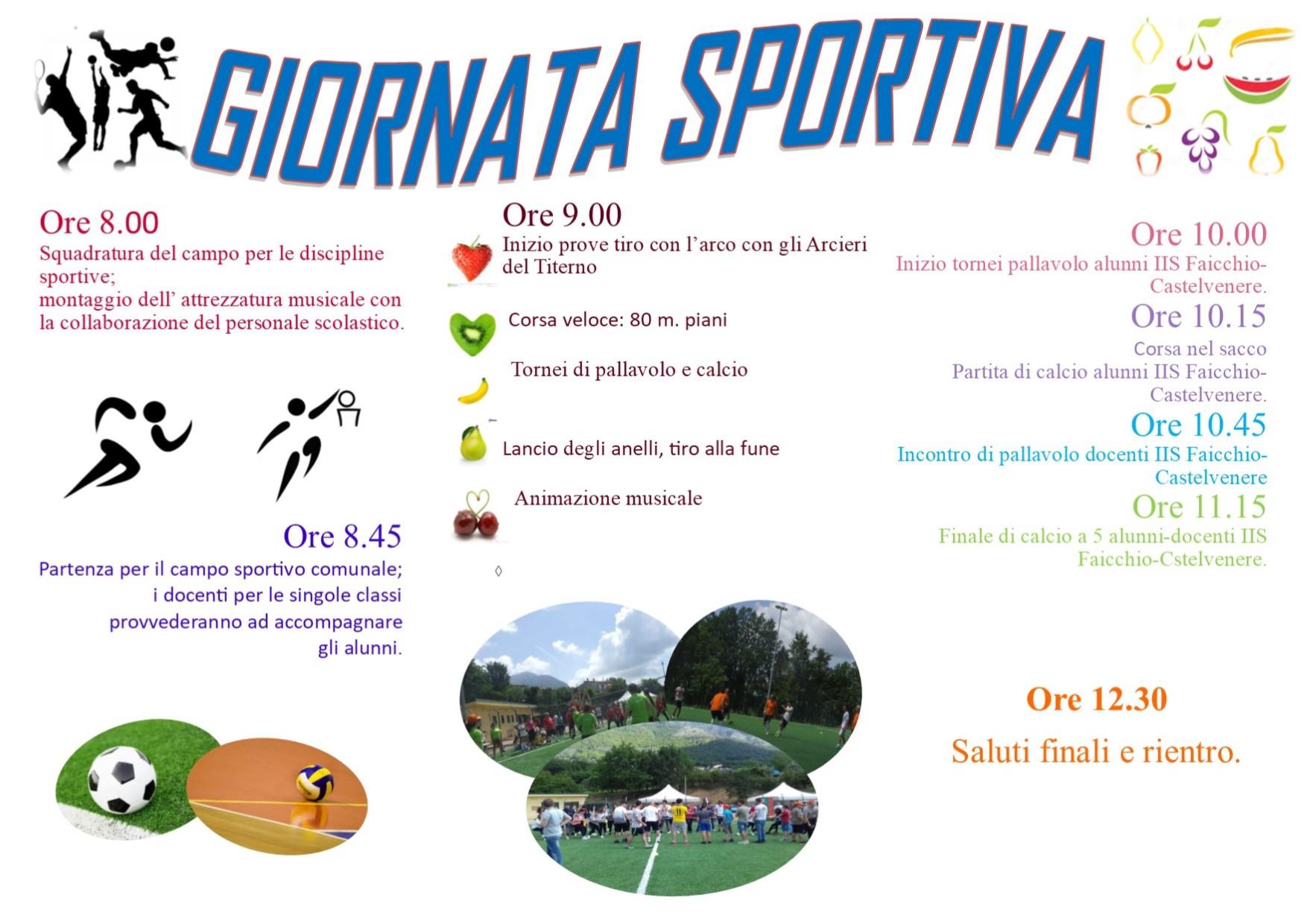 "Giornata sportiva ""LA VITA… GIOCALA BENE"""