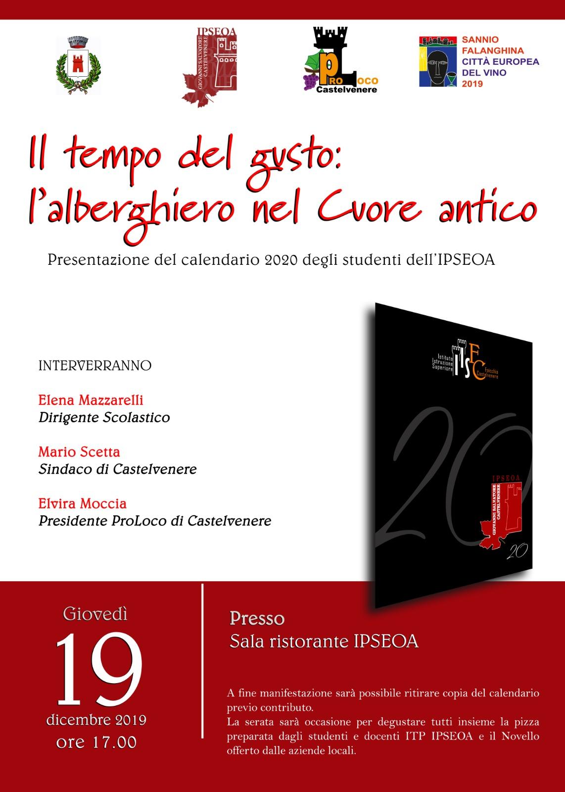 Presentazione Calendario 2020 – IPSEOA – Castelvenere